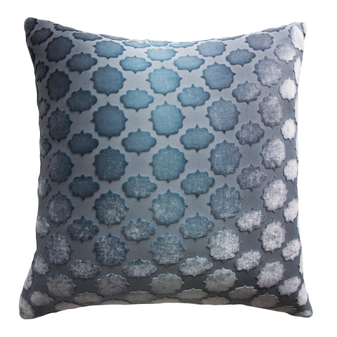 Kevin O'Brien Studio Mod Fretwork Velvet Decorative Pillow - Dusk