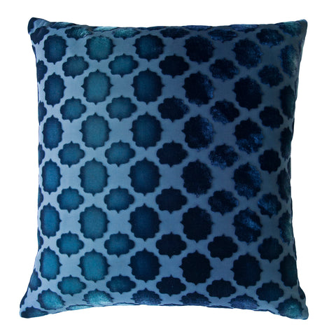 Kevin O'Brien Studio Mod Fretwork Velvet Decorative Pillow - Shark