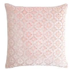 Kevin O'Brien Studio Small Moroccan Silk Velvet Decorative Pillow - Blush