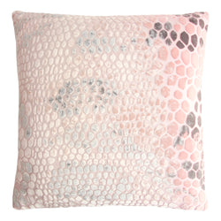 Kevin O'Brien Studio Snakeskin Silk Velvet Decorative Pillow - Blush