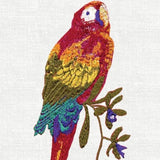 Anali Macaw Linen Guest Towels