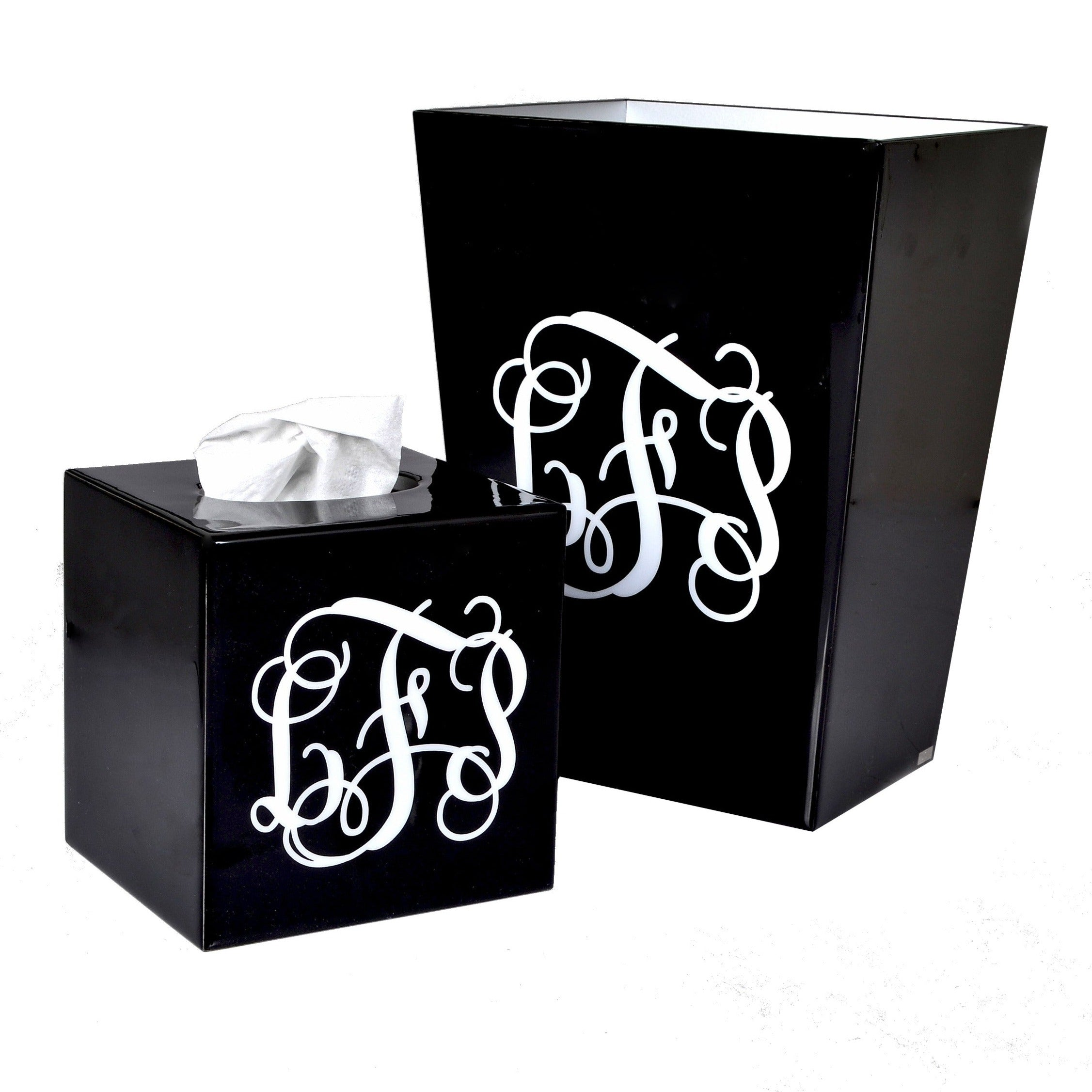 Mike And Ally Essentials Monogrammed Collection Black