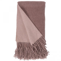 Alashan 100% Cashmere Double Faced Throw - Mushroom/Bisque