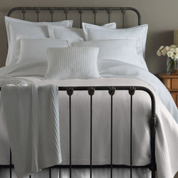 Peacock Alley Oxford Tailored Bedding - White