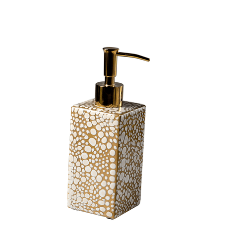 Mike and Ally Proseco Bath Accessories - Oatmeal / Gold
