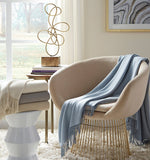 Sferra Bristol Fringed Throw Blanket - Cream