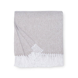 Sferra Terzo Throw Blanket - Mushroom