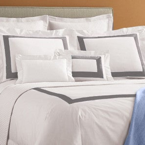 Sferra Orlo Bedding Collection  - White/Grey