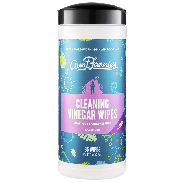 Aunt Fannie's Cleaning Vinegar Wipes Lavender, 35 Wipes - Breezily Inc.