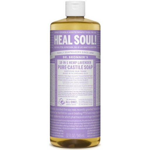 Dr. Bronner's Pure Castile Soap Lavender, 946 mL - Breezily Inc.