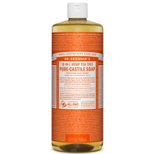 Dr. Bronner's Pure Castile Soap Tea Tree, 946 mL - Breezily Inc.