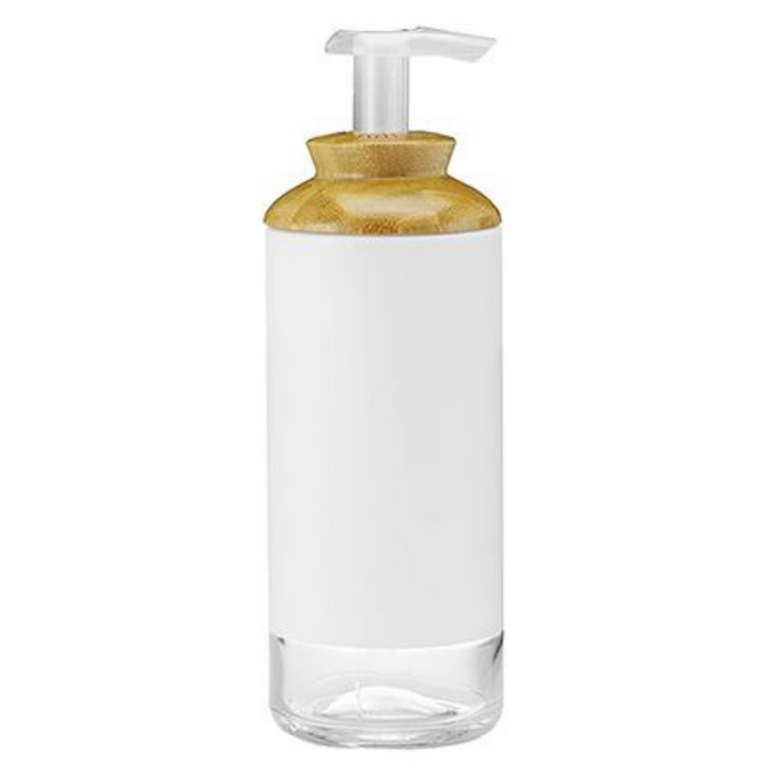 Full Circle Soap Opera Gel Soap + Lotion Dispenser White, 12oz - Breezily Inc.