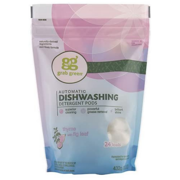 grab green Automatic Dishwashing Detergent Pods Thyme, 24 Loads - Breezily Inc.
