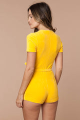 Mellow Yellow Terry Romper