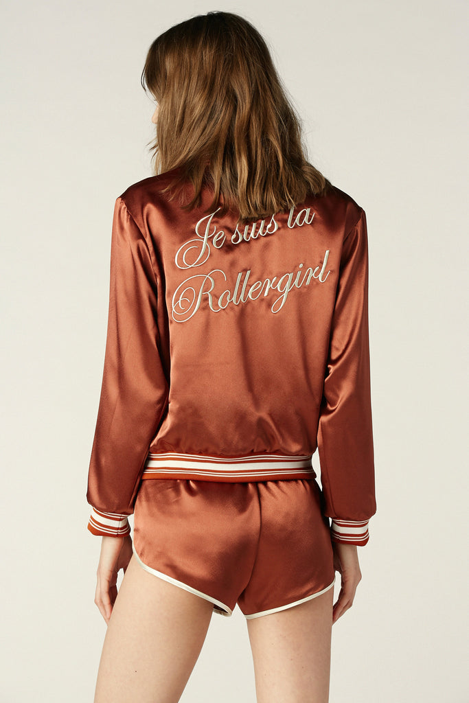 La Roller Girl Jacket Rust