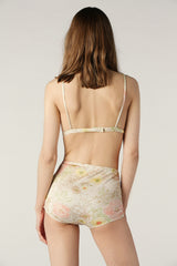 Buell Silk Hi-Waisted Panty In Blossom