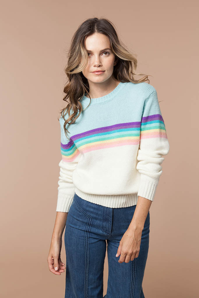 Rainbow 70's Sweater
