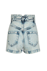 Studded Louise High Waisted Shorts Acid wash
