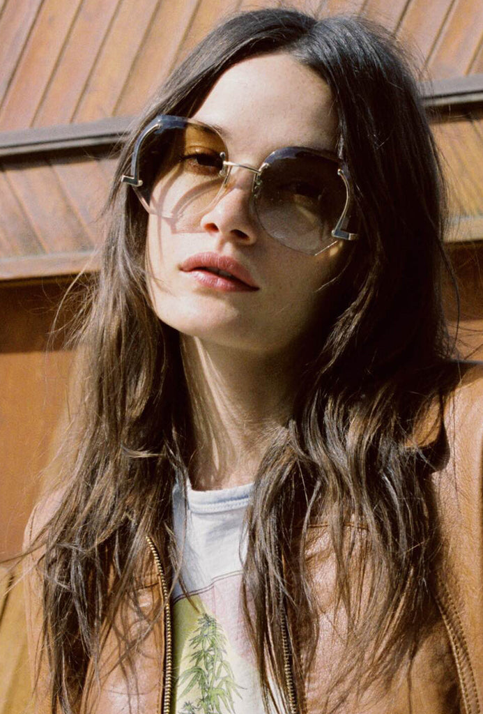 Jacqueline 70's Sunnies Gold Frame