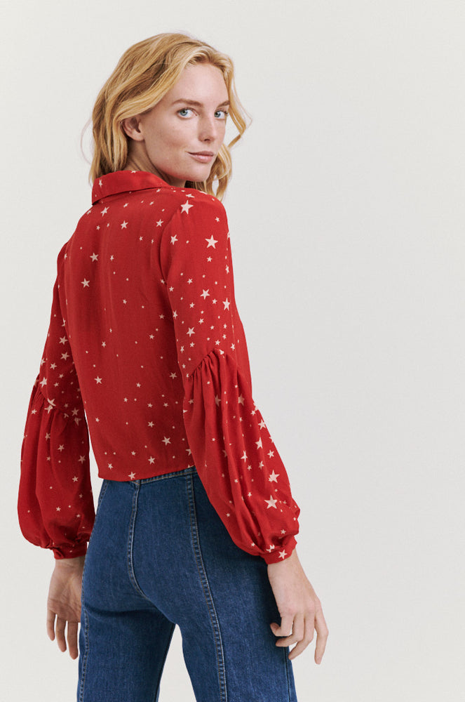 stella blouse red
