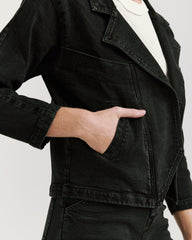 Benatar Denim Jacket Black