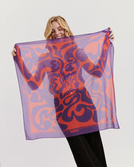 Jimi Hendrix Purple Electric Lady Scarf
