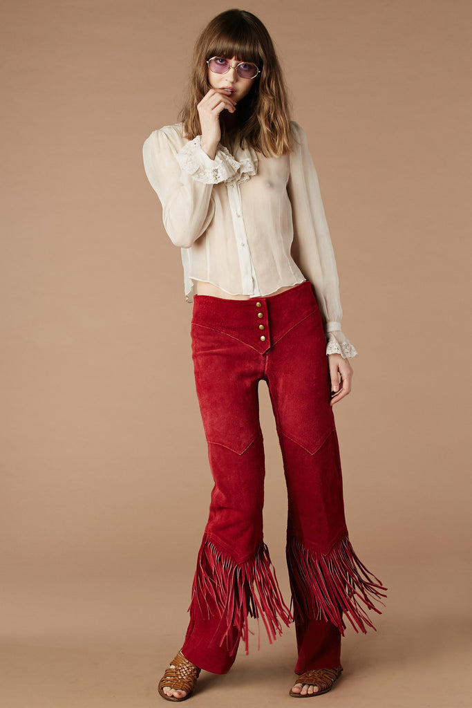 It's Only Rock'n Roll Suede Fringe Pants