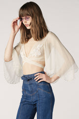 Stevie Chiffon Wrap Top