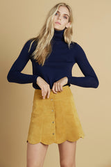 Delilah Turtleneck Sweater in Navy
