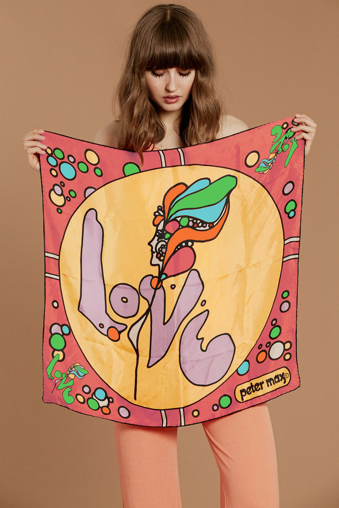 Baby Love Peter Max Silk Scarf
