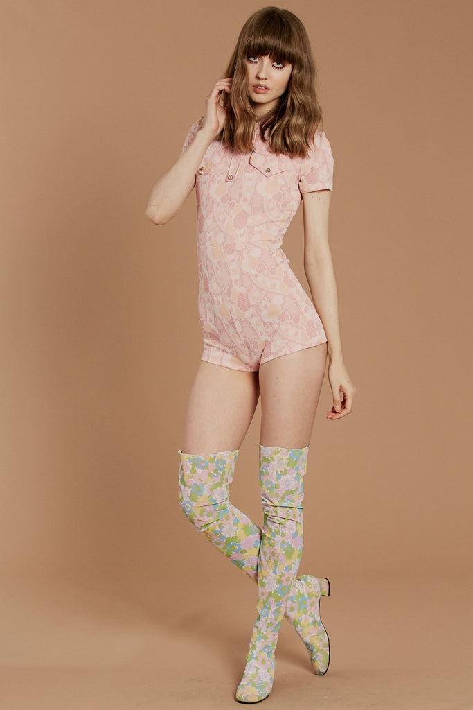 pink panther 70 s romper stoned immaculate clothing