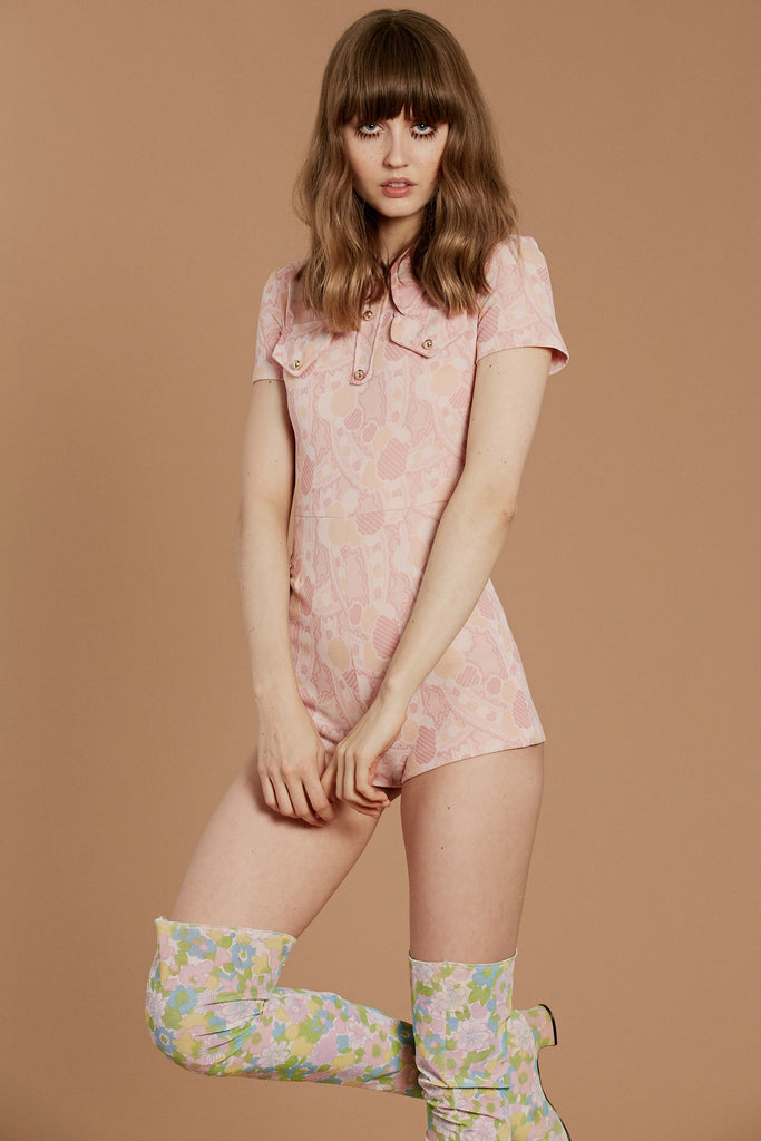 Pink Panther 70's Romper
