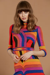 Babe Rainbow 60's Leonard Dress