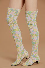 Flower Power 60's Thigh-High Boots