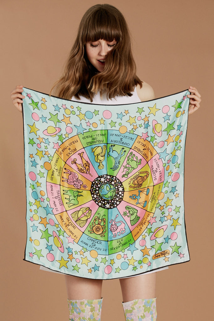 It's All In The Stars Zodiac Scarf