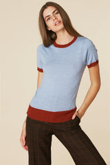 Donna Sweater Tee in Sky
