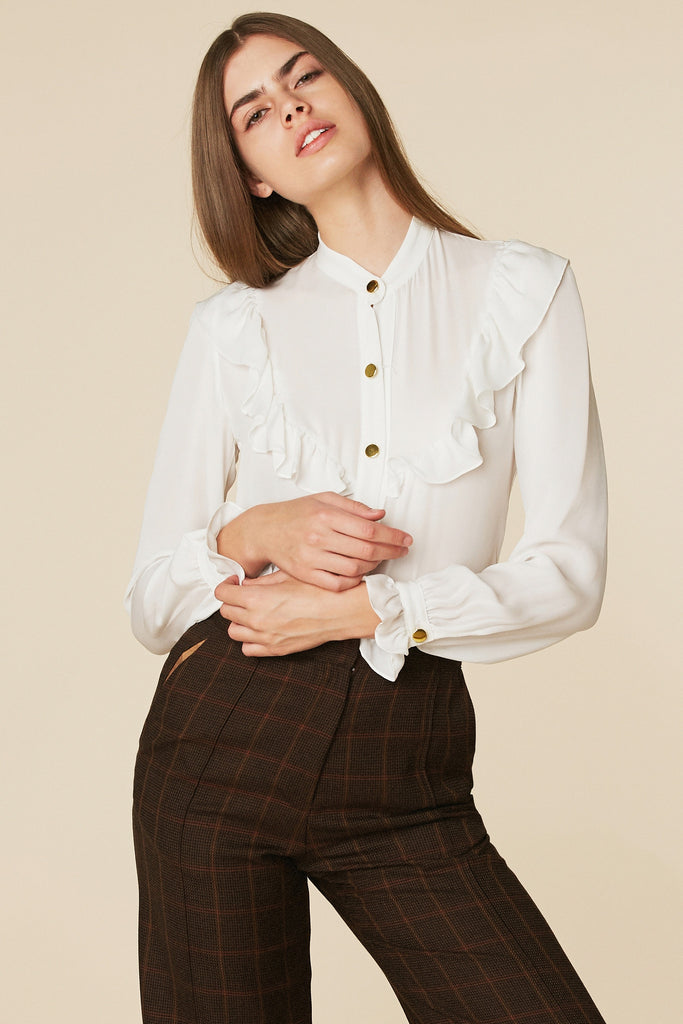 Brigitte Blouse in Ivory