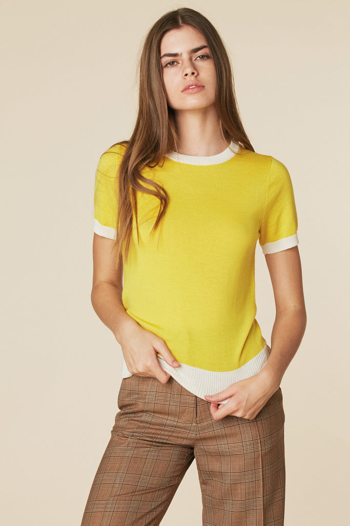 Donna Sweater Tee in Sunshine