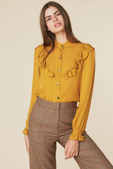 Brigitte Blouse in Mustard