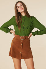 Sweet Jane Suede Skirt in Brown