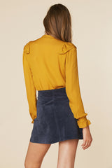 Sweet Jane Suede Skirt in Navy