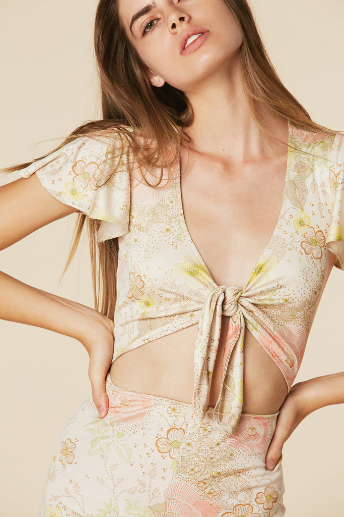 Bianca Silk Jumpsuit in Blossom