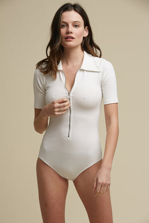 wonder years bodysuit in white