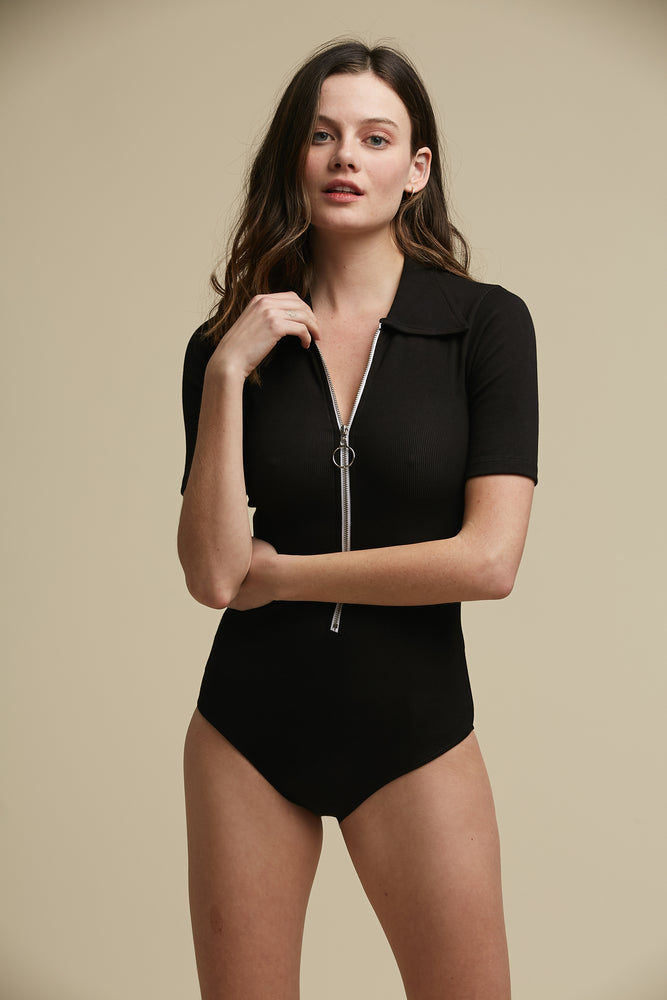 wonder years bodysuit in black