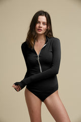Moffitt Turtleneck Bodysuit Black