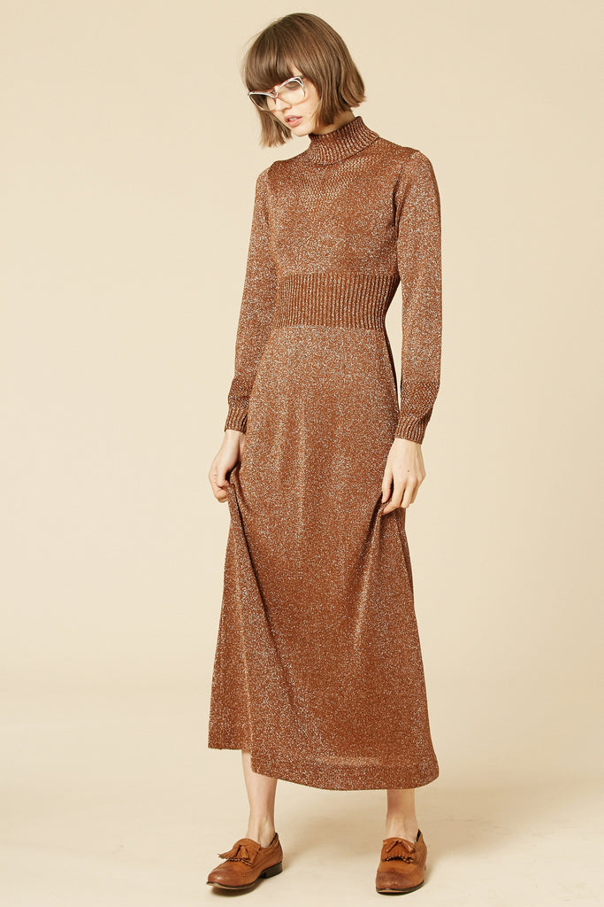 Brown Sugar 70's Lurex Maxi Dress