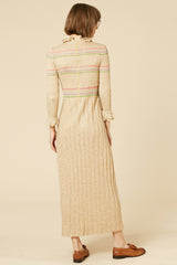 Tea Party Lurex Maxi Dress