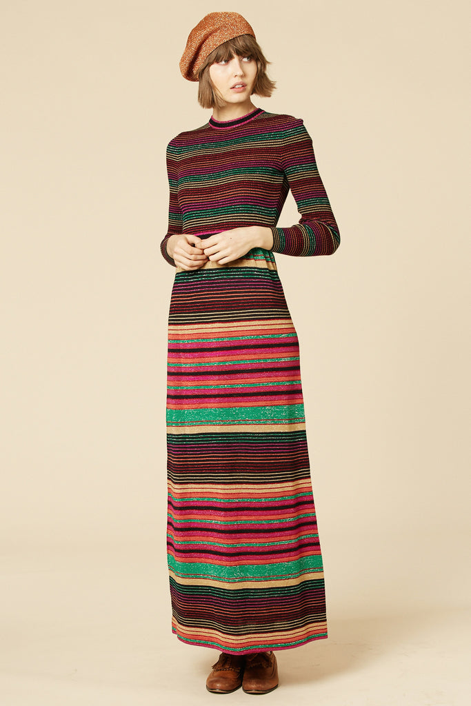 Taste The Rainbow 70's Lurex Maxi Dress