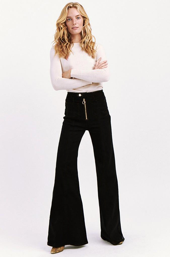 Bardot High Waisted Bells in Black