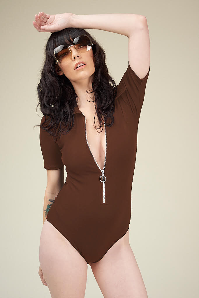 Wonder Years Bodysuit in Brown